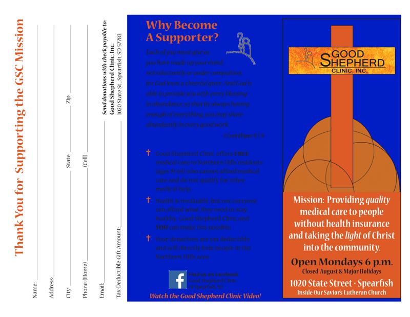 Good Shepherd Clinic Brochure