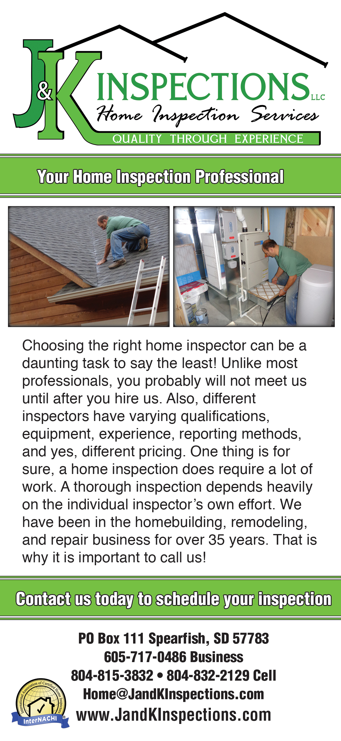 J and K Inspections Marketing
