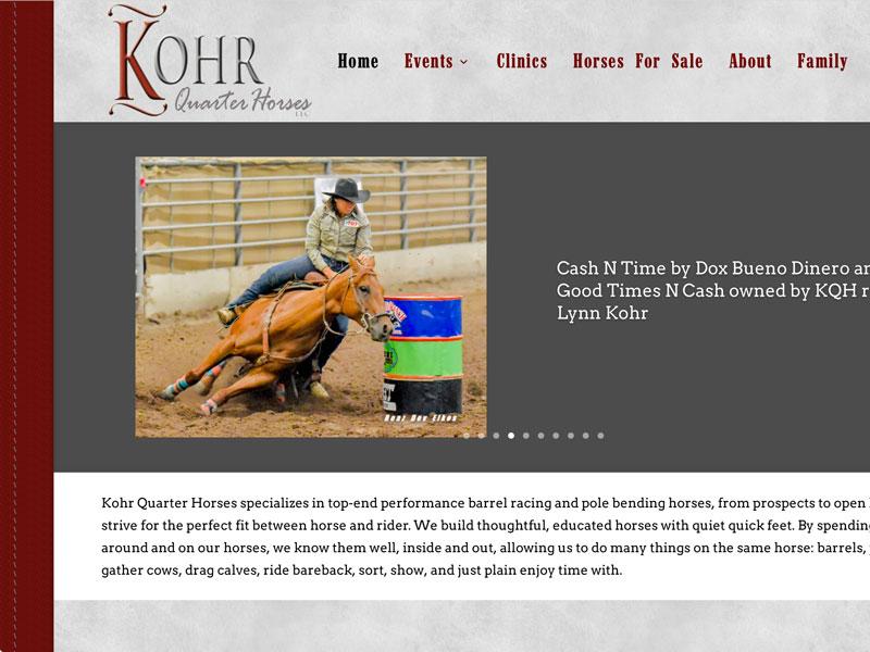 Kohr Quarter Horses Web Site