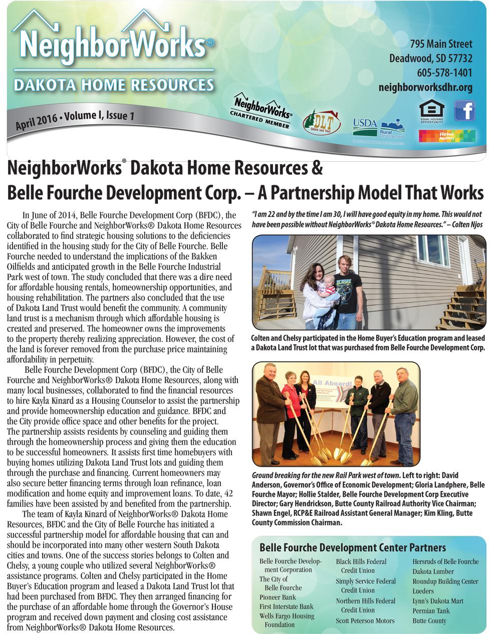 Neighborworks® Dakota Home Resources Newsletter