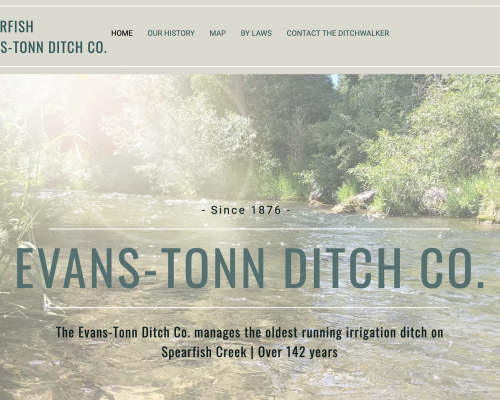 Spearfish Evans-ton Ditch Co.