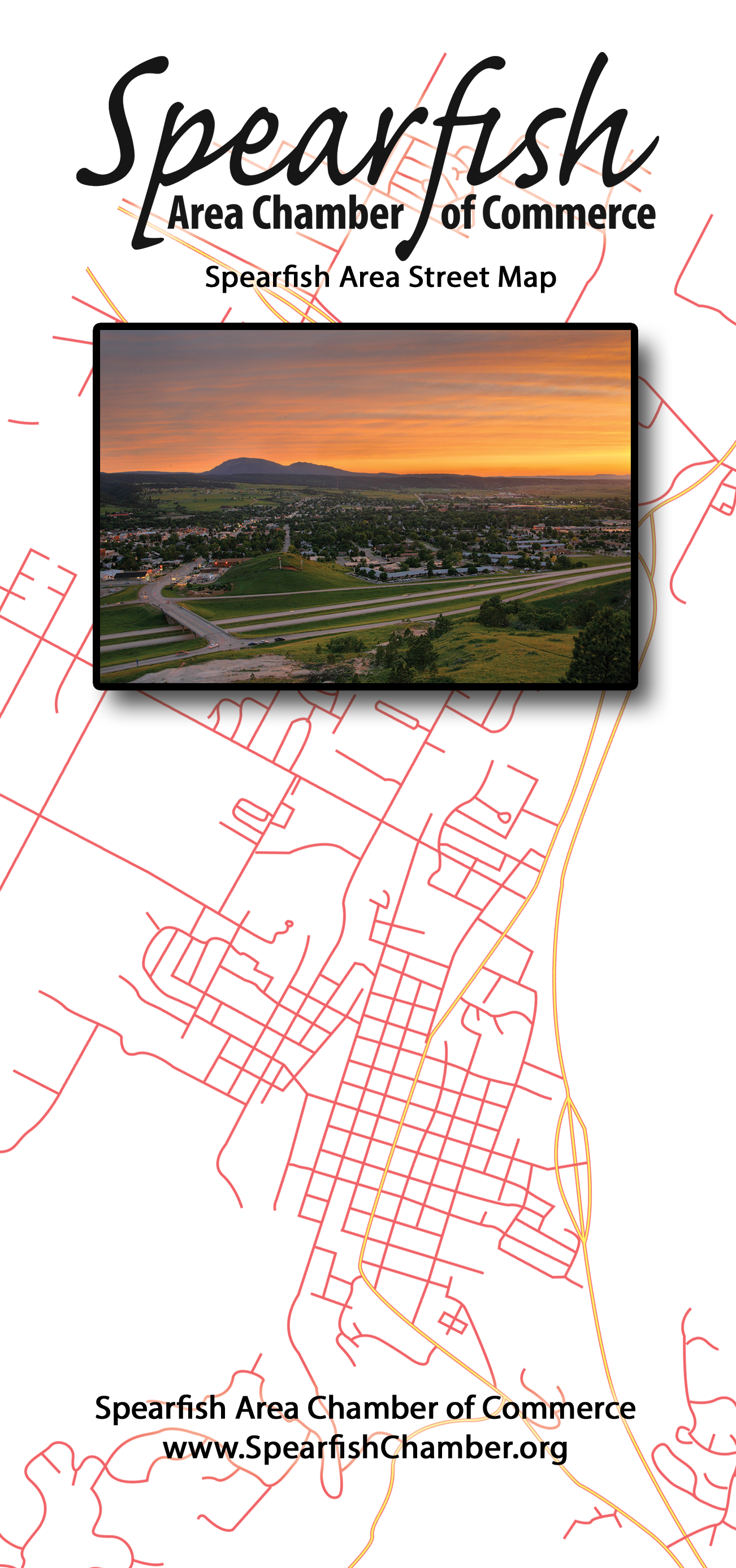 Spearfish Area Street Map